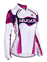 Nuckily Cycling Jersey Women's Long Sleeve BikeBreathable Windproof Anatomic Design Ultraviolet Resistant Moisture Permeability Water