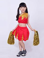 Tenue(Bleu / Rouge,Coton / Polyester,Costumes de Pom-Pom Girl)Costumes de Pom-Pom Girl- pourEnfant Paillettes SpectacleCostumes de