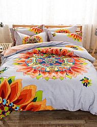 Double Bed Comforter Cover Set 100% Twill Cotton Bedding Set