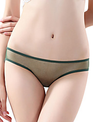 women's Super thin hollow mesh low waist briefs