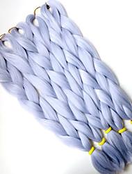 1-12packs colore grigio intrecciare i capelli a temperatura elevata intrecciare i capelli 100g / pcs estensioni dei capelli intrecciare