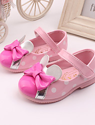 Girl's Flats Spring Summer Fall Comfort Leather Wedding Dress Party & Evening Pink Red White Peach