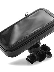 Motorcycle Bicycle Handlebar Mount Phone Holder with Zipper Bag for iPhone 4 4S
