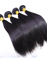 200g de cabelo humano em linha reta cabelo virgem brasileiro 4pcs tece brasileiro natural preto cabelo reto 8-26 polegadas