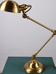 Copper table lamp hotel study desk lamp