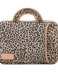"Handbag for Macbook Air 13.3"" MacBook Pro 13.3""/15.4"" Leopard Print Canvas Material Leopard grain Protective Sleeve Laptop Computer Handbag"