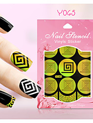 New Nail Art Hollow Stickers Colorful Geometric Image Flower Design  Nail Art Beauty  Y041-050