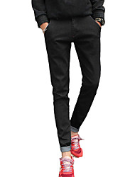 AOLONGQISHI® Men's Pure Long Sleeve Pant , Cotton / Denim Casual M999-1