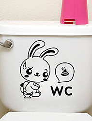 Creative Little Rabbit Toilet Stickers