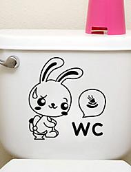 творческие маленький кролик туалет наклейки