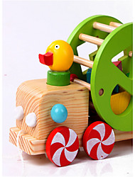 детская деревянная разведка небольшое здание утка блок трактор обучения веревки деревянные тянуть