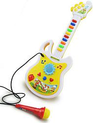 juguete de la guitarra micrófono música forma abs blanco / amarillo