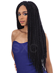 Kanekalon Senegalese Braid hair wigs sythetic hair lace front wig Havana Mambo Twist Crochet Braid Hair
