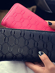 Women PU Bi-fold Clutch / Wallet / Card & ID Holder-White / Pink / Blue / Red / Black