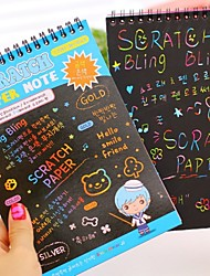 1PC Dazzle Colour Scratch Intelligence Development Diy Drawing This Graffiti Notebook(Style random)