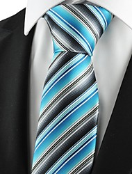 New Striped Blue Grey Mens Tie Suits Necktie Party Wedding Holiday Gift KT1070