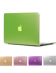 "Case for Macbook Air 11.6"" MacBook Pro 13.3""/15.4"" Solid Color ABS Material Matte Metal Color Full Body Case Cover"