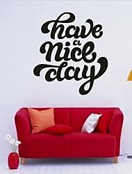 Worte & Zitate / Romantik / Mode Wand-Sticker Flugzeug-Wand Sticker,PVC M:42*46cm/ L:55*61cm