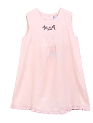 Girl's Floral Dress,Cotton Summer Pink