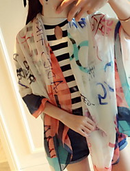 Spring And Summer Cotton Super Beautiful Letters Printed Scarf Scarves
