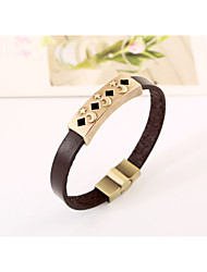 2016 moon and stars the legendary personality Pierced leather bracelet alloy Leather Bracelet(bracelet)