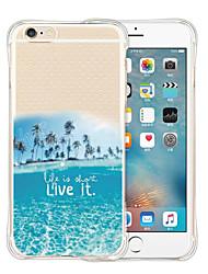 live it love it back silicone étui transparent souple pour iphone 6 / 6s (couleurs assorties)