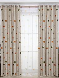 Deux Panneaux Moderne Géométrique Comme image Salle de séjour Polyester Rideaux occultants rideaux
