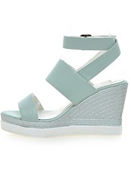 Women's Shoes Wedge Heel Wedges / Peep Toe / Platform Sandals Party & Evening / Dress / Casual Blue / Pink / White