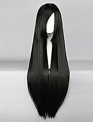 Cosplay Wigs One Piece Nico Robin Black Long Anime Cosplay Wigs 80 CM Heat Resistant Fiber Female