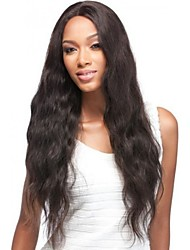 "Unprocessed 8""-20"" Peruvian Human Hair Natural  Wave Full Lace Wig Human Hair Lace Front Wigs"