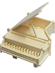 Quebra-cabeças Quebra-Cabeças 3D / Quebra-Cabeças de Madeira Blocos de construção DIY Brinquedos Piano Madeira BegeModelo e Blocos de