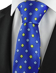 Krawatte(Blau / Orange,Polyester)Muster