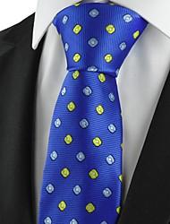 Gravata(Azul / Laranja,Poliéster)Estampado
