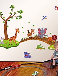 Wall Stickers Wall Decals Animals Bridge Feature Removable Washable PVC