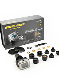 Steelmate DIY TPMS TP-79 Tire Pressure Monitoring System LCD Cigarette Plug Diverter Fixed with Bar Unit