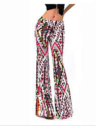 Women's Rainbow Red Wide Leg Pants,Casual / Day / Holiday