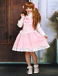 Une Pièce/Robes Gothique / Doux / Lolita Classique/Traditionnelle Steampunk® Cosplay Vêtements de Lolita Incanardin Couleur PleineSans