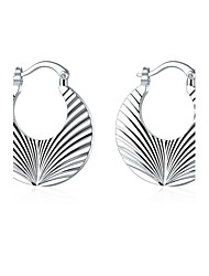 lureme®Fashion Style 925 Sterling Silver Screw Thread Shaped Hoop Earrings