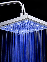 Monochrome LED Shower Nozzle Top Spray Shower Nozzle (Blue)