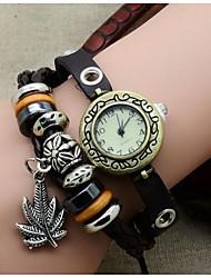 Latest fashion maple leaf punk Bracelet Watch