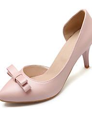Zapatos de mujer-Tacón Stiletto-Tacones-Tacones-Casual-Semicuero-Negro / Rojo / Beige
