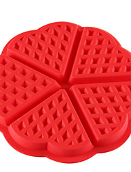 Love Flower Shape Silicone Waffles Mould Cake Mould Muffin Cake Oven For Grid Mold