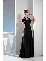 A-line Mother of the Bride Dress Floor-length Chiffon with Draping
