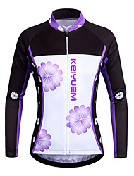 KEIYUEM® Cycling Jersey Unisex Long Sleeve BikeWaterproof / Breathable / Quick Dry / Windproof / Insulated / Rain-Proof / Dust Proof /