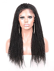 """Joywigs Unprocessed 10""""-24"""" Virgin Brazilian Hair Natural Color Kinky Curly 130% Density Lace Front Wig Kinky Curl"""