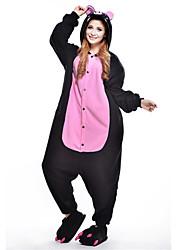 kigurumi Pyjamas New Cosplay® / Porcelet / Cochon Collant/Combinaison Fête / Célébration Pyjamas Animale Halloween Noir Mosaïque Polaire