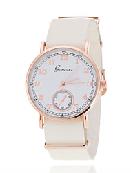 Men's/Women's White Case Analog Quartz  Leather Band Dress Watch for Party Fashion Watch