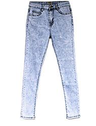 Women's Plus Size Elastic High Waist Blue High Quality Jeans