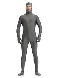 Zentai Suits Ninja Zentai Cosplay Costumes Gray Solid Leotard/Onesie / Zentai Lycra / Spandex Unisex Halloween / Christmas