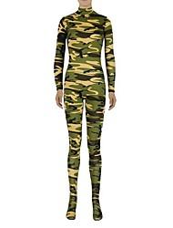 Zentai Suits Ninja Zentai Cosplay Costumes Green Solid Leotard/Onesie / Zentai Lycra / Spandex Unisex Halloween / Christmas